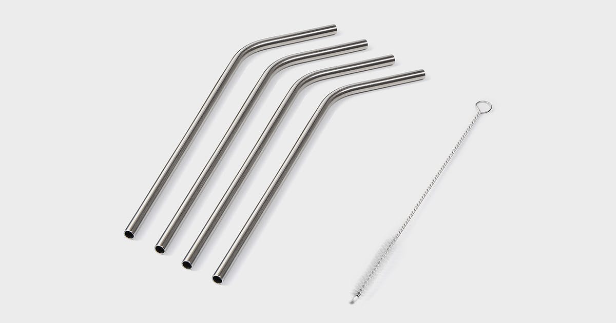 NutriBullet 4-Pack Stainless Steel Straws - NutriBullet