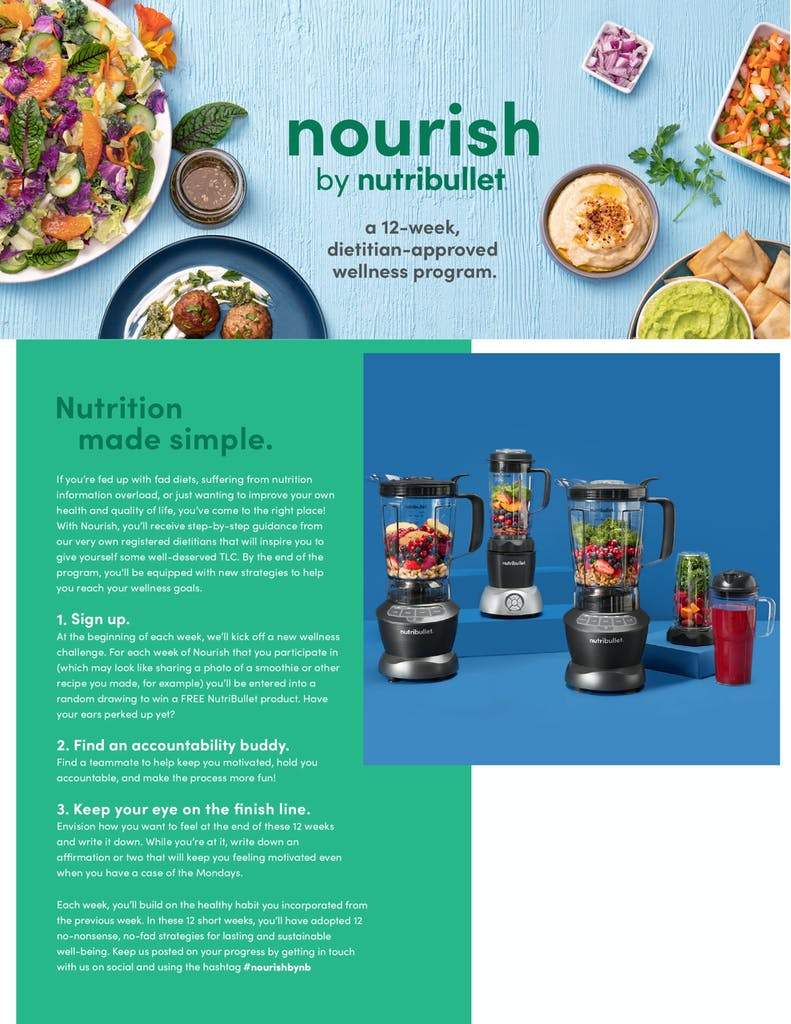 nourish by nutribullet guide first page