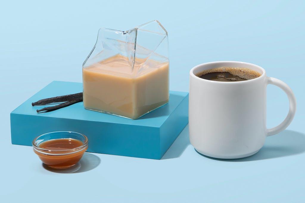 homemade date caramel creamer for coffee